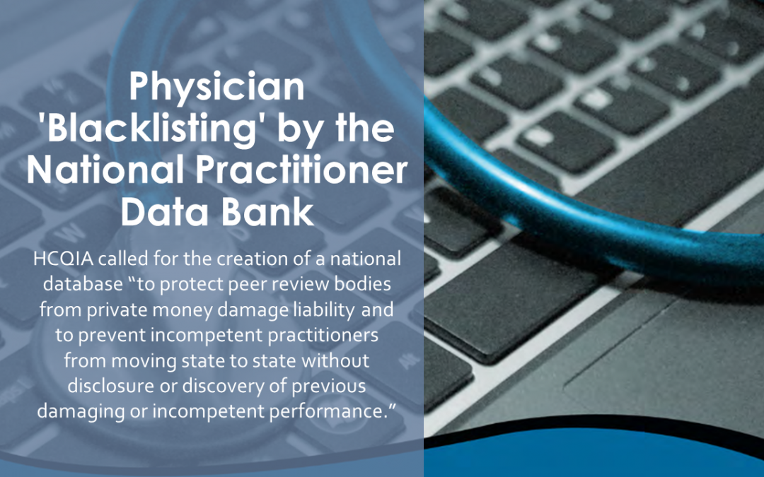 Physician 'Blacklisting' by the National Practitioner Data Bank