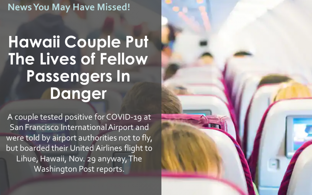 Hawaii Couple Put The Lives of Fellow Passengers In Danger