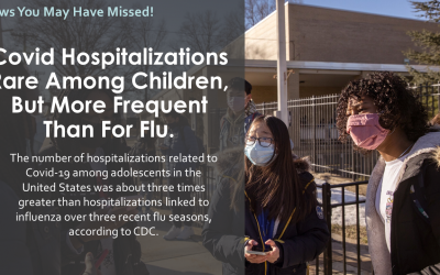 Covid Hospitalizations Rare Among Children, But More Frequent Than For Flu.